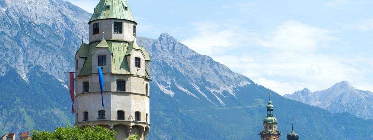 la torre della zecca di hall in tirol