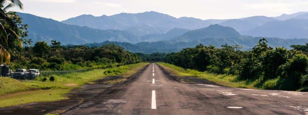 runway airstrip jungle central america banner