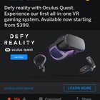 I made a post about Oculus Quest vs. Vive Cosmos yesterday and now every ad I see is for the Quest. They're Watching