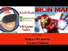 BGG VR News is back helping out a fellow creator, helping you save money on games and thoughts on Iron Man