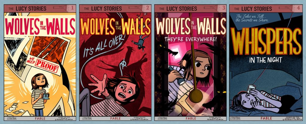 wolves in the walls lucy all cover art work