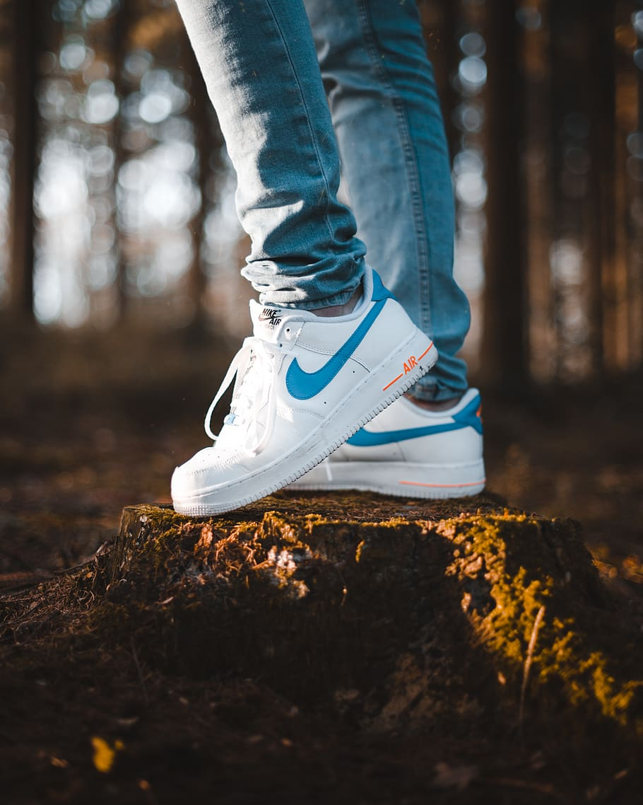 Women's Flare Nike Air in Forest Setting