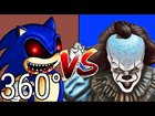 360 it Chapter 2 Pennywise VS Sonic the Hedgehog | Dance Battle #1 in Virtual Reality