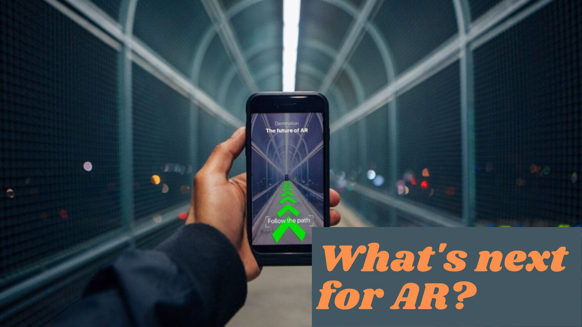 Looking at phone for indoor AR navigation