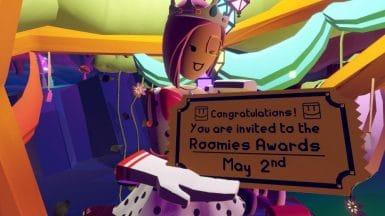 rec room roomie award sign