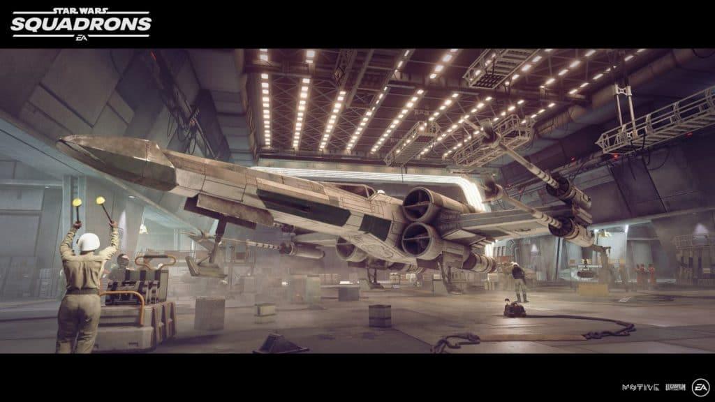star wars squadrons x wing hangar